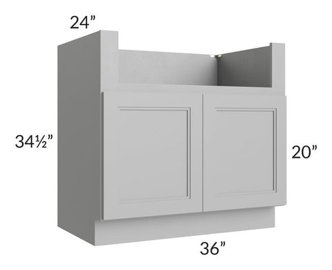 "Charlotte Grey 36"" Farm Sink Base Cabinet"