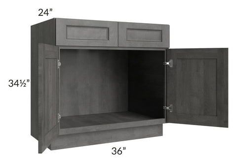"Providence Slate Grey 36"" Sink Base Cabinet"