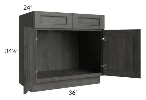 "Providence Natural Grey 36"" Sink Base Cabinet"