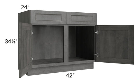 "Providence Slate Grey 42"" Sink Base Cabinet"
