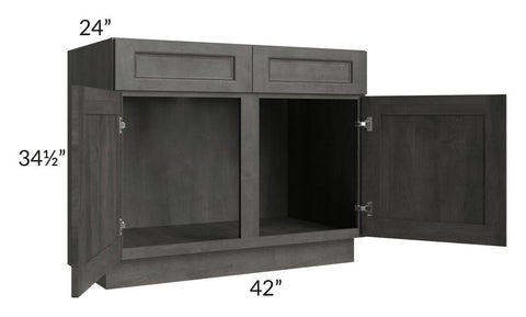 "Providence Natural Grey 42"" Sink Base Cabinet"