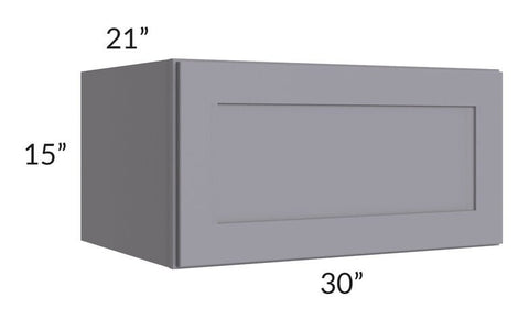 "Graphite Grey Shaker 30"" 1-Drawer Base Cabinet"