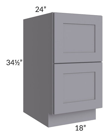"Graphite Grey Shaker 18"" 2-Drawer Base Cabinet"