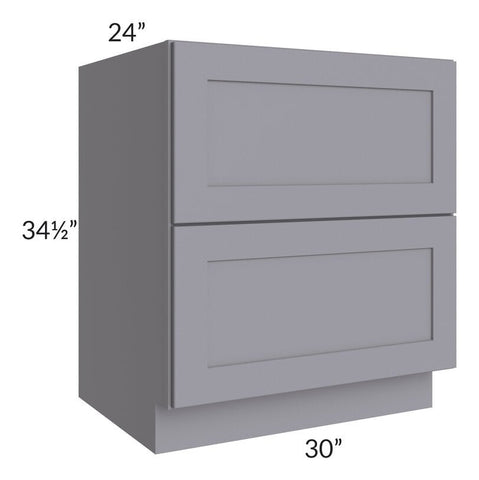 "Graphite Grey Shaker 30"" 2-Drawer Base Cabinet"