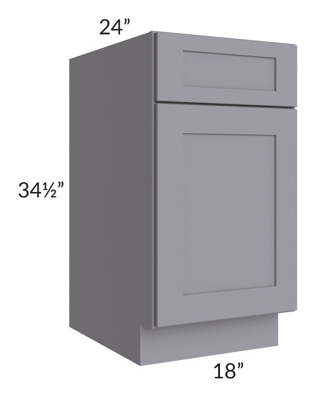 "Graphite Grey Shaker 18"" Base Cabinet"