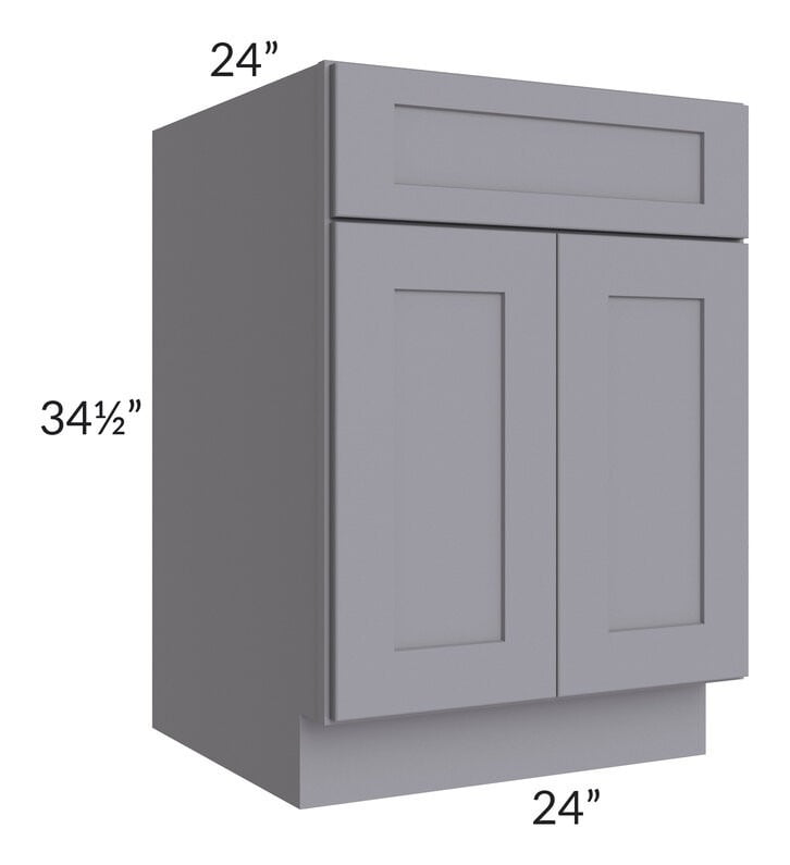 "Graphite Grey Shaker 24"" Base Cabinet"