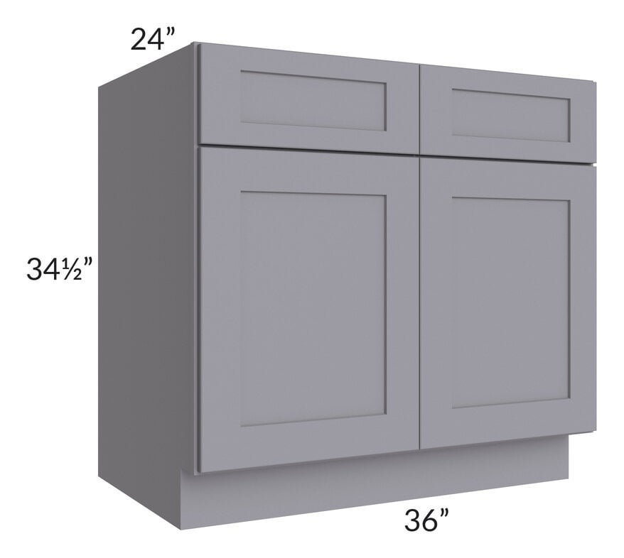 "Graphite Grey Shaker 36"" Base Cabinet"