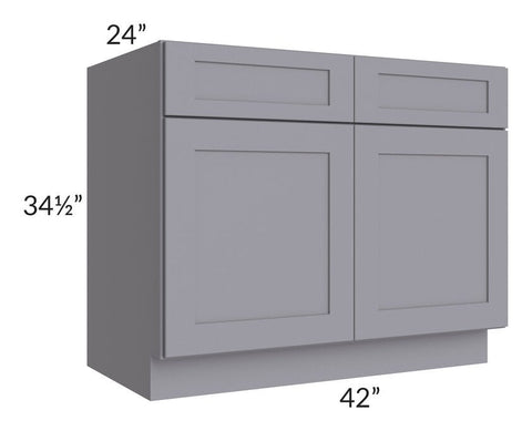 "Graphite Grey Shaker 42"" Base Cabinet"