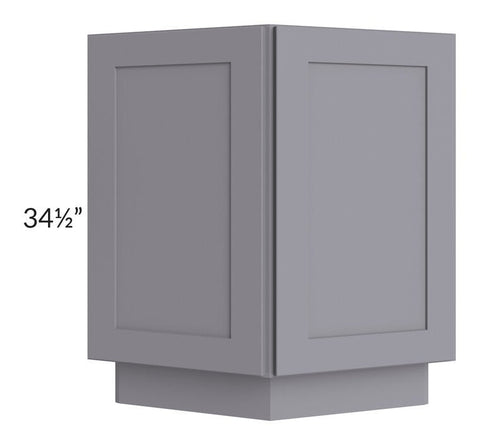 "Graphite Grey Shaker 24"" Base End Cabinet"