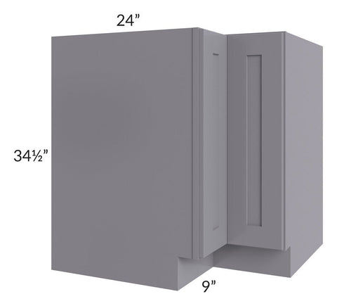 "Graphite Grey Shaker 33"" Corner Base Cabinet"