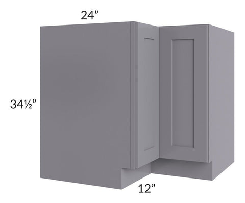 "Graphite Grey Shaker 36"" Corner Base Cabinet"