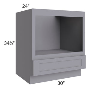 "Graphite Grey Shaker 30"" Microwave Base Cabinet"