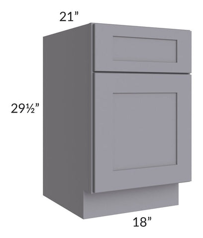 "Graphite Grey Shaker 18"" Drawer File Base Cabinet"
