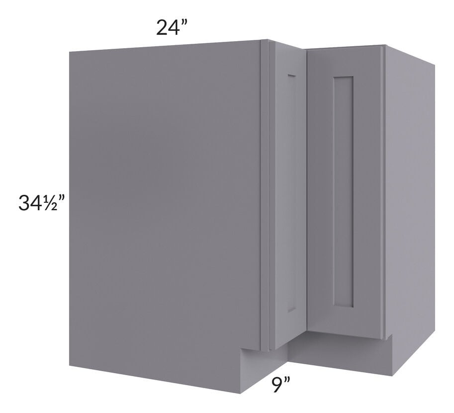 "Graphite Grey Shaker 33"" Lazy Susan Base Cabinet"