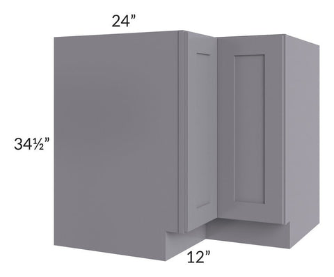 "Graphite Grey Shaker 36"" Lazy Susan Base Cabinet"