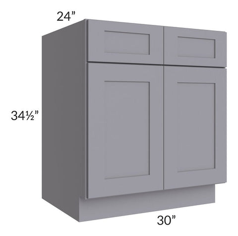 "Graphite Grey Shaker 30"" Sink Base Cabinet"