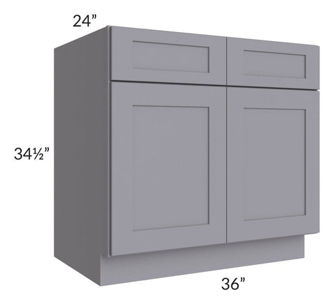 "Graphite Grey Shaker 36"" Sink Base Cabinet"