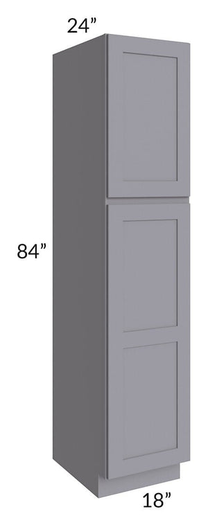 Graphite Grey Shaker 18x84x24 Wall Pantry Cabinet