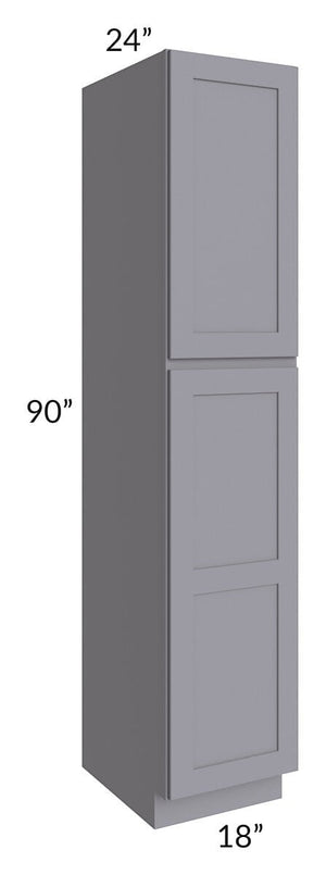 Graphite Grey Shaker 18x90x24 Wall Pantry Cabinet