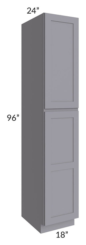 Graphite Grey Shaker 18x96x24 Wall Pantry Cabinet