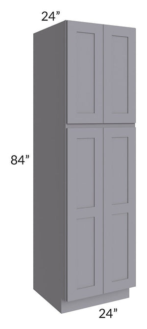 Graphite Grey Shaker 24x84x24 Wall Pantry Cabinet