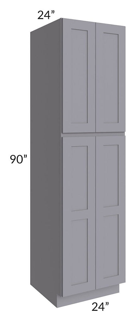 Graphite Grey Shaker 24x90x24 Wall Pantry Cabinet