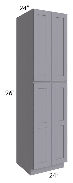 Graphite Grey Shaker 24x96x24 Wall Pantry Cabinet