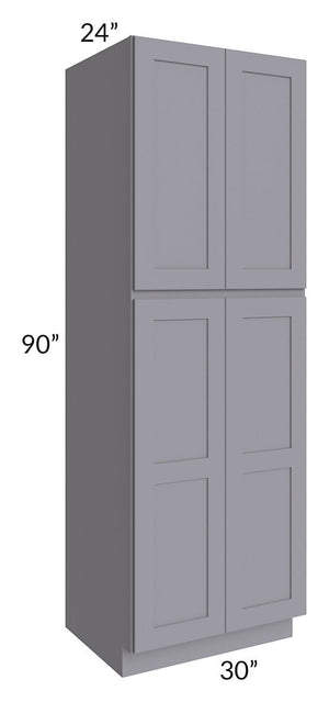 Graphite Grey Shaker 30x90x24 Wall Pantry Cabinet