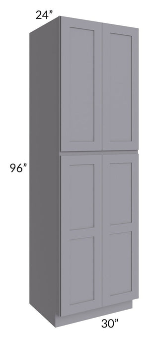 Graphite Grey Shaker 30x96x24 Wall Pantry Cabinet