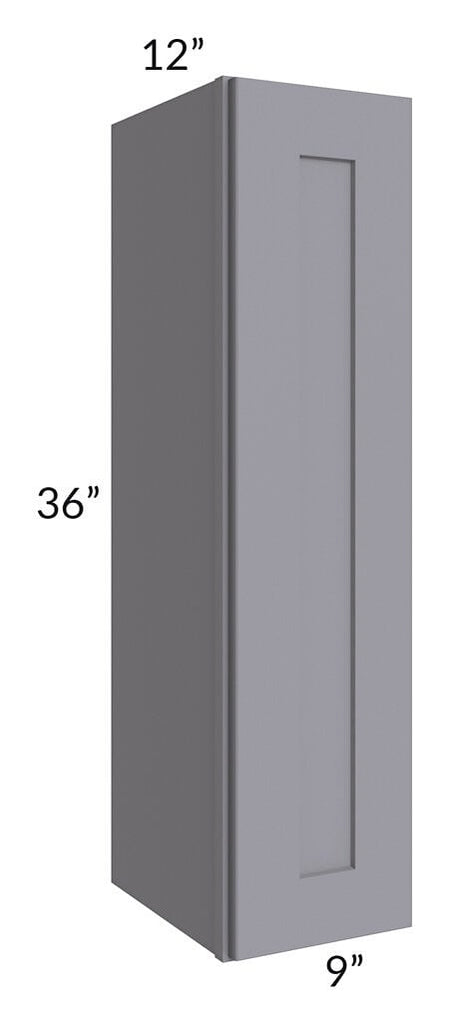 Graphite Grey Shaker 09x36 Wall Cabinet