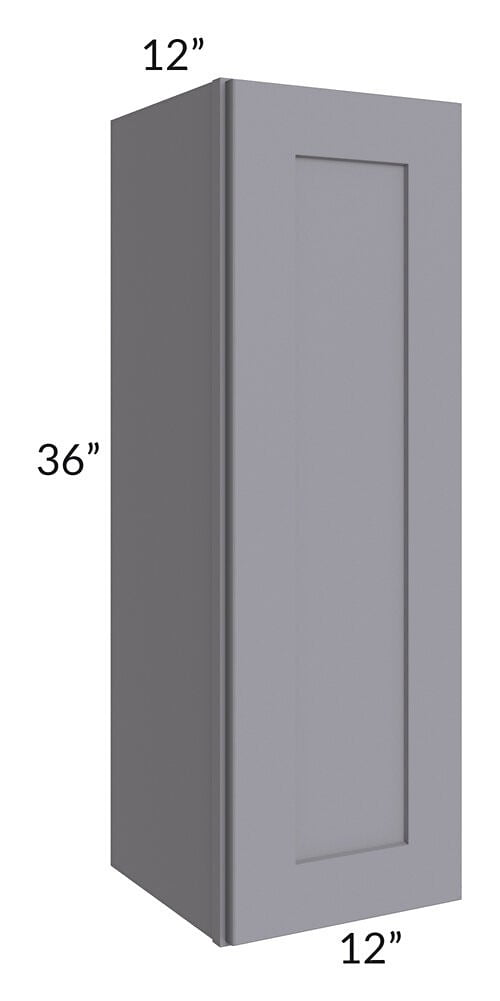 Graphite Grey Shaker 12x36 Wall Cabinet