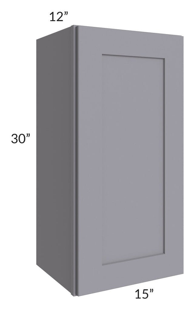 Graphite Grey Shaker 15x30 Wall Cabinet