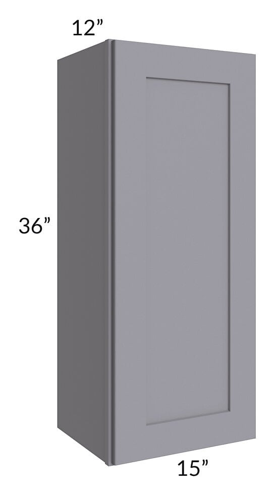 Graphite Grey Shaker 15x36 Wall Cabinet