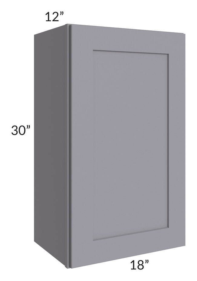 Graphite Grey Shaker 18x30 Wall Cabinet