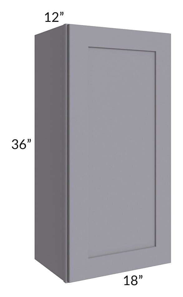 Graphite Grey Shaker 18x36 Wall Cabinet