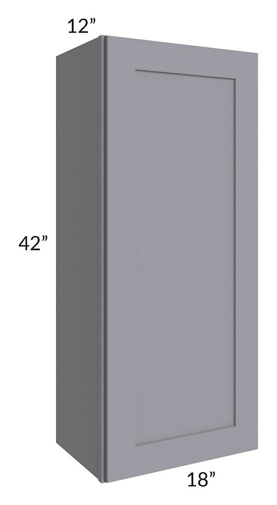 Graphite Grey Shaker 18x42 Wall Cabinet