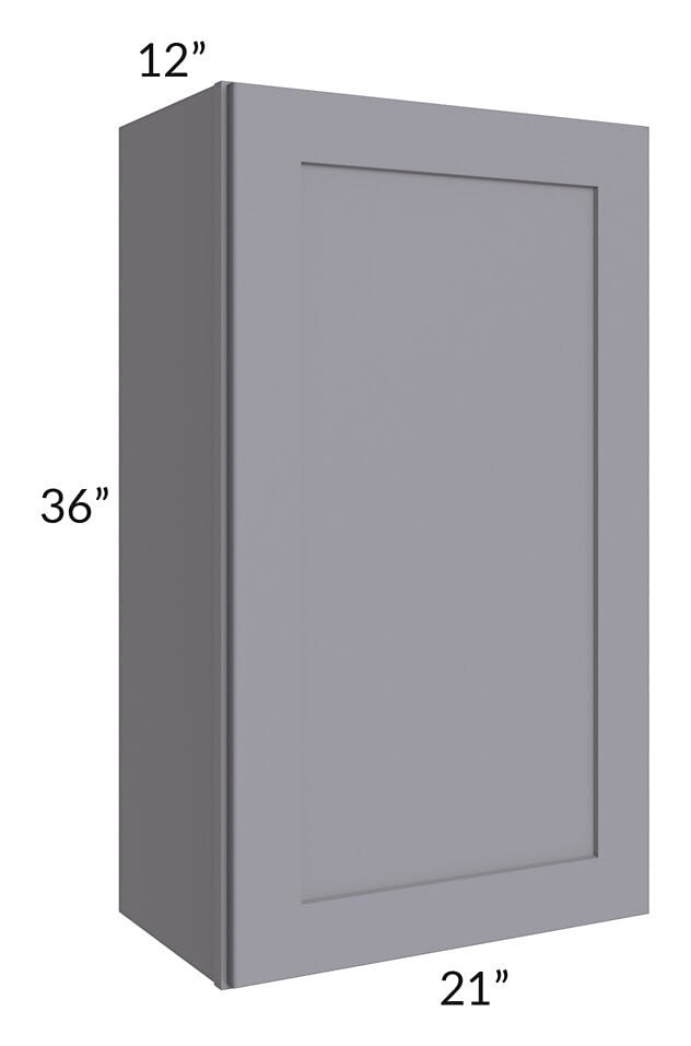 Graphite Grey Shaker 21x36 Wall Cabinet