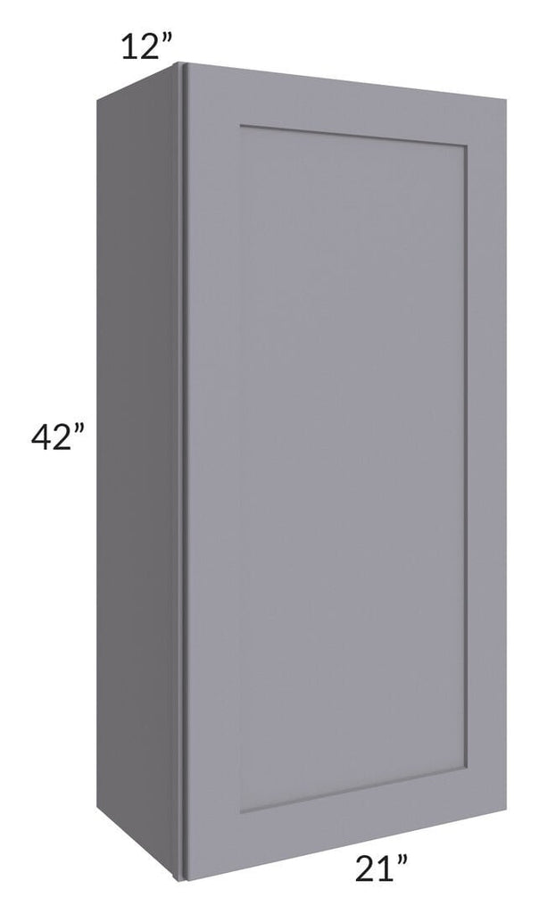 Graphite Grey Shaker 21x42 Wall Cabinet