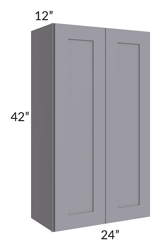 Graphite Grey Shaker 24x42 Wall Cabinet