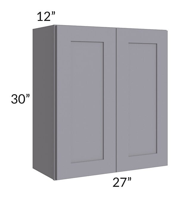 Graphite Grey Shaker 27x30 Wall Cabinet