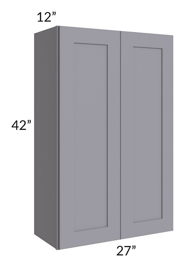 Graphite Grey Shaker 27x42 Wall Cabinet
