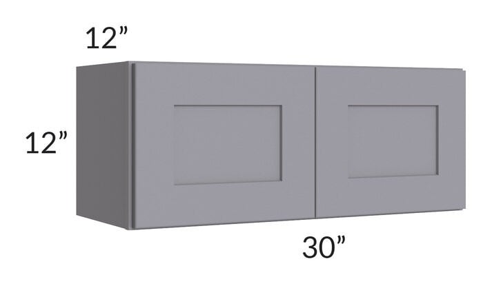 Graphite Grey Shaker 30x12 Wall Cabinet