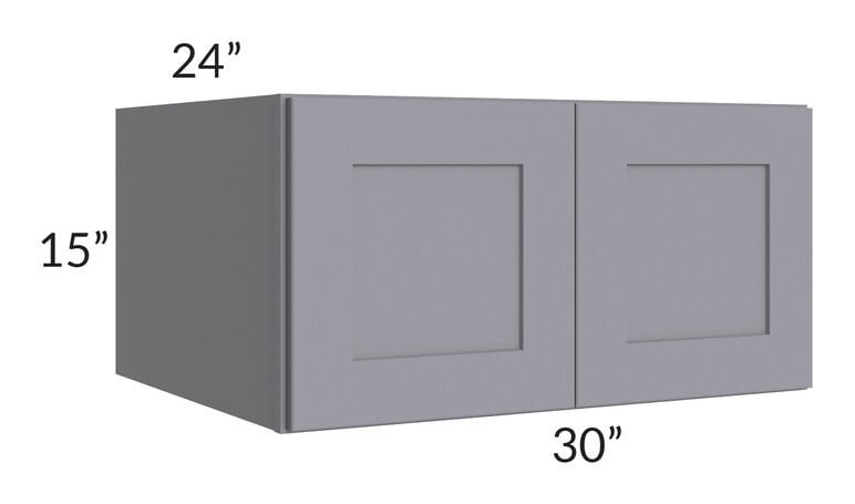 Graphite Grey Shaker 30x15x24 Wall Cabinet