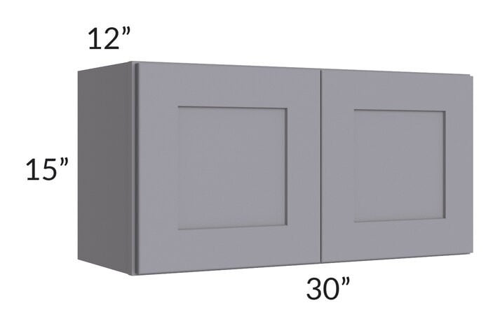 Graphite Grey Shaker 30x15 Wall Cabinet