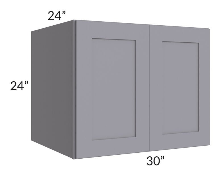 Graphite Grey Shaker 30x24x24 Wall Cabinet