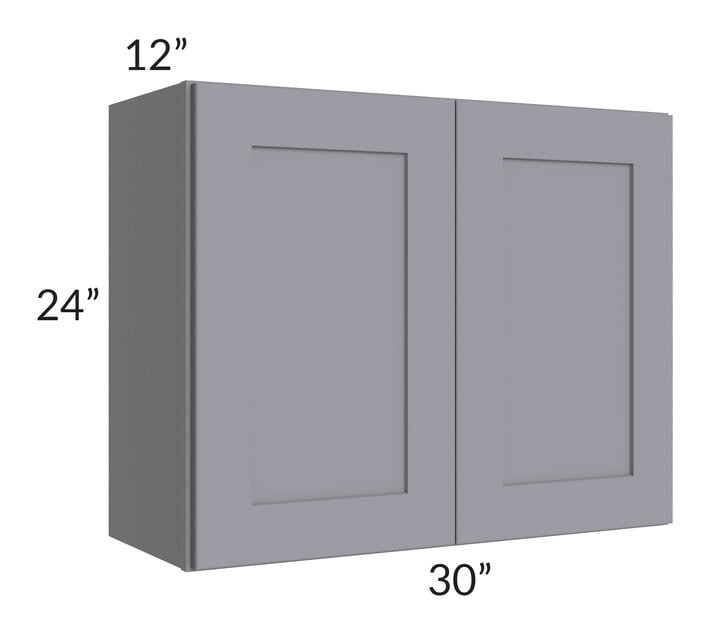 Graphite Grey Shaker 30x24 Wall Cabinet