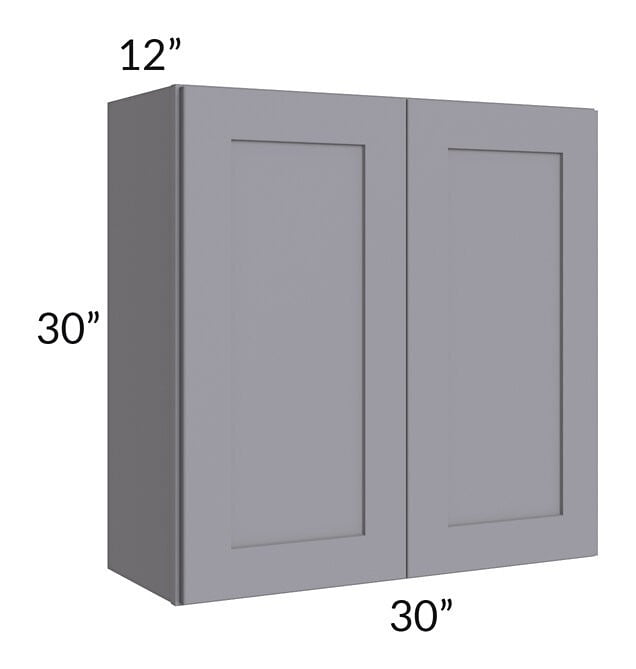 Graphite Grey Shaker 30x30 Wall Cabinet