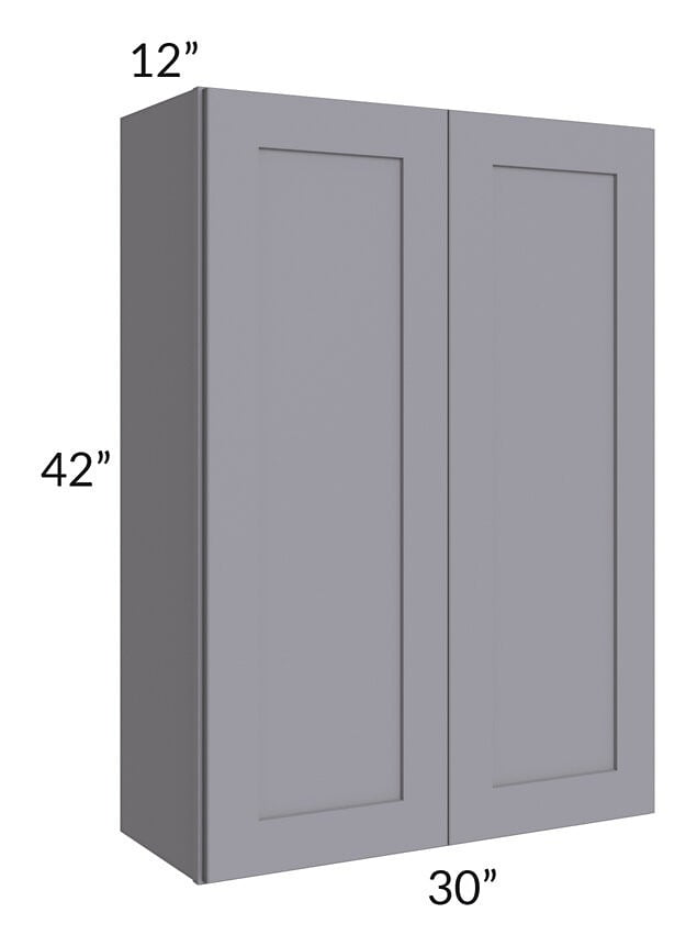 Graphite Grey Shaker 30x42 Wall Cabinet