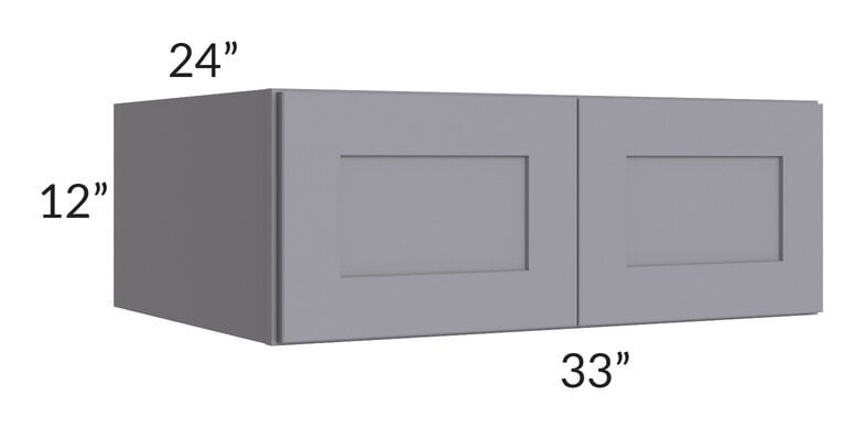 Graphite Grey Shaker 33x12x24 Wall Cabinet