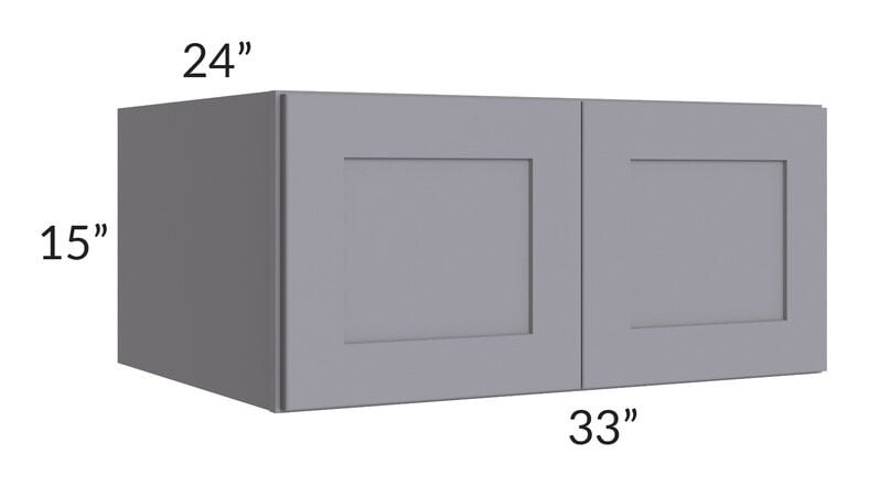 Graphite Grey Shaker 33x15x24 Wall Cabinet